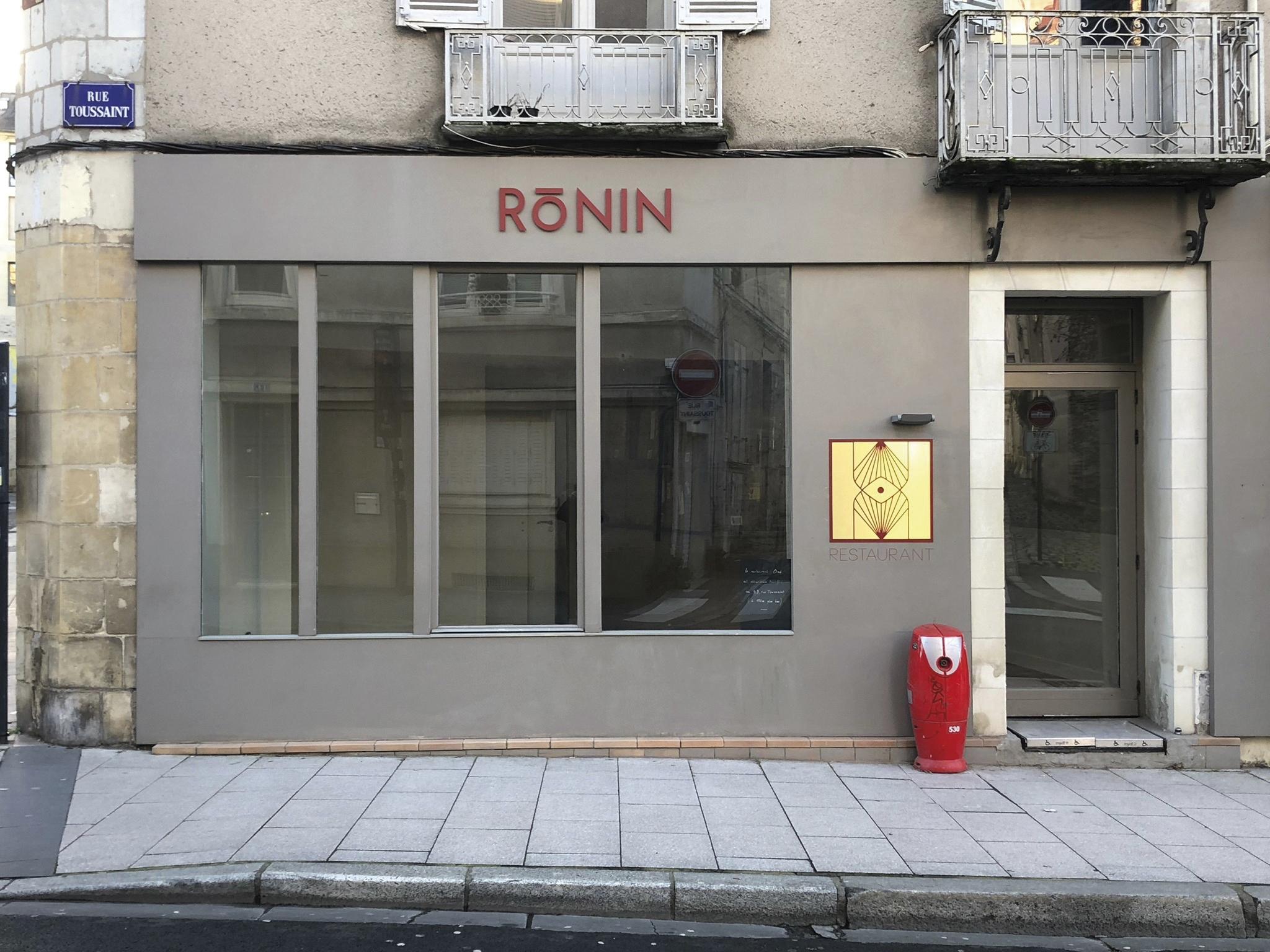 Façade du restaurant Ronin àAngers
