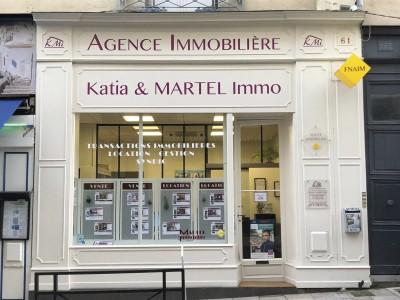 Façade de l'agence immobilière Katia et Martel Immo à Angers