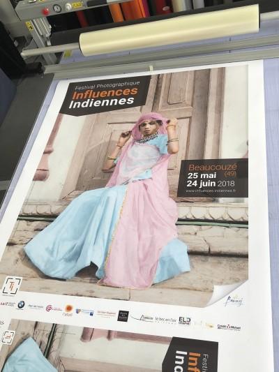 Grande Affiche pour Festival Influences Indiennes 2018